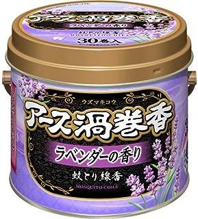 【4個セット】アース渦巻香 ラベンダーの香り 30巻缶入