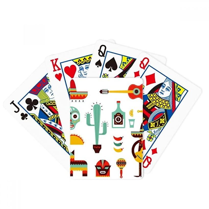 DIYthinker Sombrero Tequila Guitar Chili Mexico Elment Poker Playing Cards Tabletop Game Gift