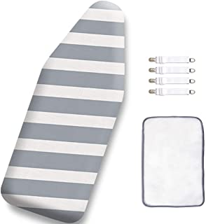 12.5 x 30 Inch Mini Ironing Board Cover,100% Cotton Iron Cover and Extra Thick Pad,Resists Scorching and Staining
