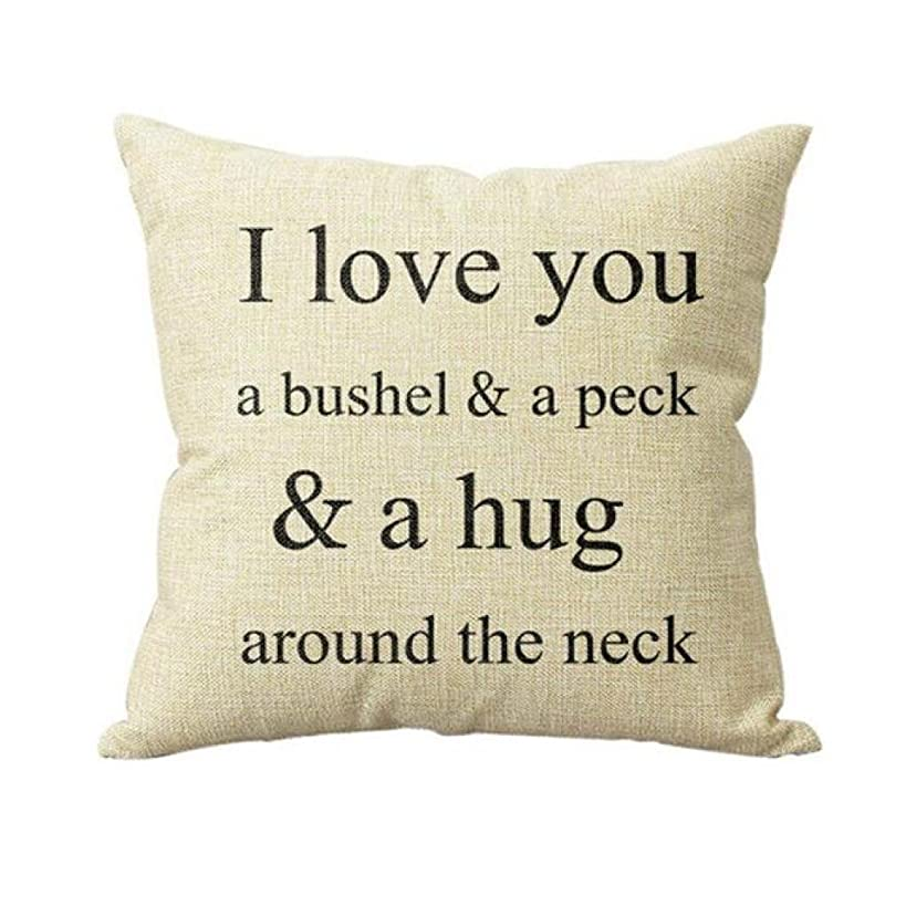 Napoo I Love You A Bushel and A Peck Letter Print Sofa Bed Home Decor Pillow Case Cushion Cover