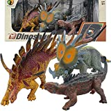 YOOUSOO Dinosaur Set Toys for Boys and Girls - 3 Pcs Kids Authentic Educational,Highly Detailed Realistic Toy Set for Dinosaur Lovers - Perfect for Party Favors,Birthday Gifts (D)