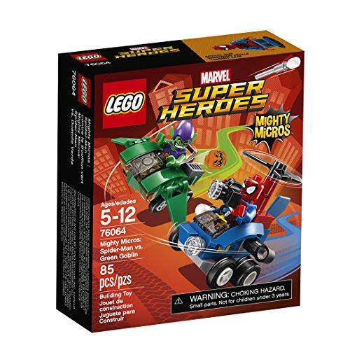 LEGO Super Heroes Mighty Micros: Spider-Man vs Green Goblin 76064 Building Kit (85 Piece)