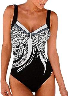 Luckycat bañador Natacion 2019 Bikini Mujer Push up Tankinis Tallas Grandes Prime Traje de baño niña Licra mangalarga Monokini Manga Larga