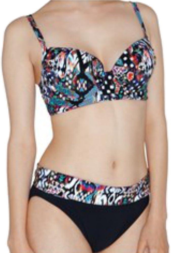 Profile by Gottex Women's Bali Multi Black Underwire Bikini Outlet SALE Top Beauty products