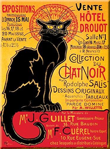 Cartexpo M15850 Divers Carte Le Chat Noir Hôtel Drouot Métal
