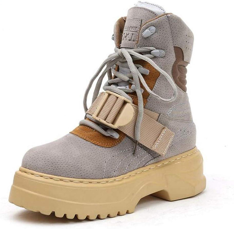 T-JULY Ankle Boots Women Lace Up Platform Woman shoes Fashion Punk Short Boots Flat Ladies shoes