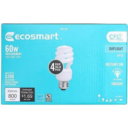 EcoSmart Spiral CFL Light Bulb, Daylight