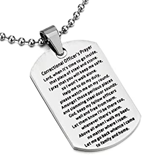 correctional officer prayer necklace