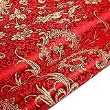 Tong Gu Chinese Satin Faux Silk Fabric Floral...