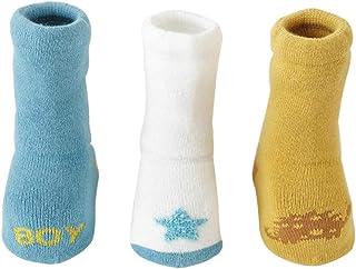 3 Pares Calcetines Gruesos para Bebés Calcetines lindos de Algodón Antideslizante para Niños y Niñas de 0-5 años Vistoso Cálidos y Cómodos Calcetines de Invierno
