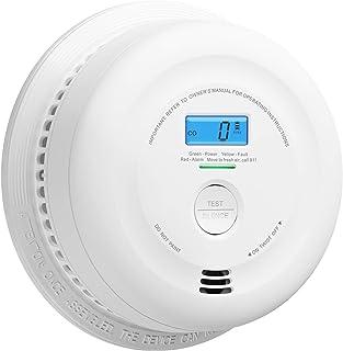 X-Sense 10-Year Battery Smoke and Carbon Monoxide Detector with LCD Display, Dual Sensor Smoke and CO Alarm Complies with ...
