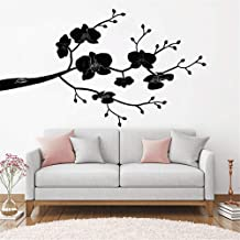 Hisoa Wall Sticker Quote Wall Decal Funny Wallpaper Removable Vinyl Tree Orchid Item Branch Home Decoration for Living Room