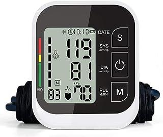 DONGBALA Monitor De Presión Arterial del Brazo Superior, Medida Automática Digital Voz Detección De Frecuencia Cardíaca Carga USB Pantalla A Color Inteligente para Uso Médico En El Hogar Mayor,Black