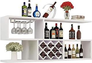 Stockage Casier à vin Tenture murale armoire à vin salon mur en treillis en bois massif Brassage et vinification maison (C...