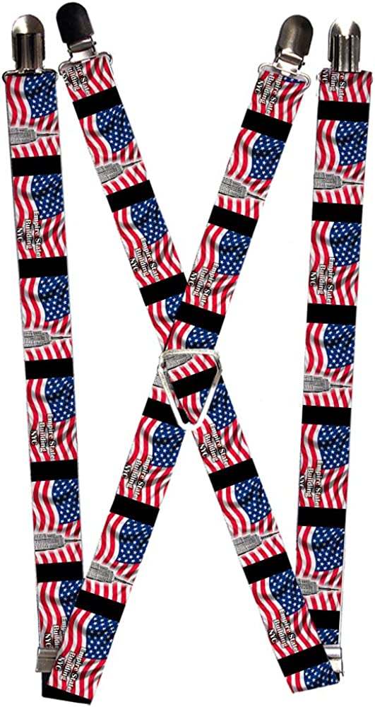 Buckle-Down Men's Suspender-New York, Multicolor, One Size