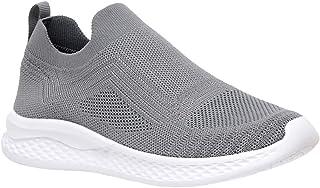 CUSHIONAIRE Women's Dorsy Stretch Knit Slip on Sneaker +Memory Foam & LiteSole Technology