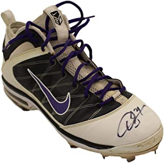 7ba74661a8d432 Dexter Fowler Autographed Colorado Rockies Game Used Worn Airmax Right Cleat