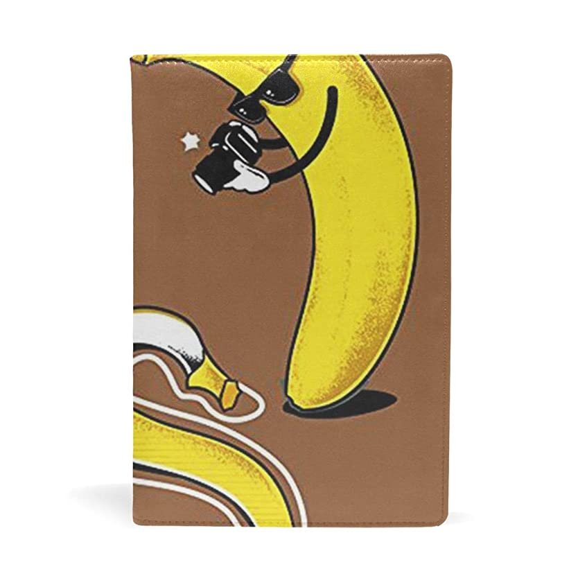 サイトライン電球レルムおもしろ バナナ ブックカバー 文庫 a5 皮革 おしゃれ 文庫本カバー 資料 収納入れ オフィス用品 読書 雑貨 プレゼント耐久性に優れ