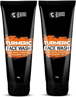 Beardo Turmeric Facewash for Men (100g) (Pack of 2)