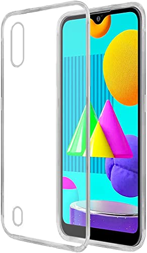Amazon Brand Solimo Mobile Cover for Samsung Galaxy M01 Soft Shockproof Back Case with inbuilt Cushioned Edges Transparent