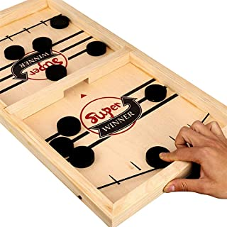 Docooler Bouncing Chess Hockey Game Slingshot Board Game Parent-Child Interactive Game 2-Player Desktop Games Tabletop Gam...