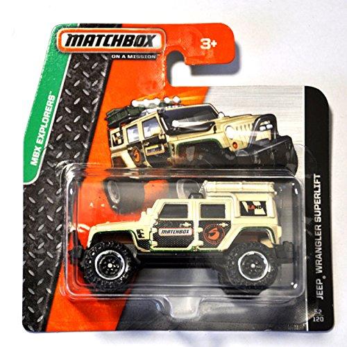 Matchbox Jeep Wrangler Superlift sandfarben 1:64