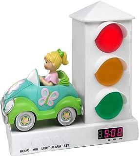 Stoplight Sleep Enhancing Alarm Clock for Kids, Groovy Car with Butterflies