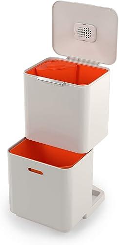 Joseph Joseph Totem Max 60 Litre Waste Separation and Recycling Bin, Stone