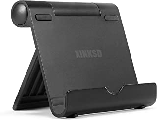 XINKSD Portable Multi-Angle Stand for Tablets, e-Readers and Smartphones, Compatible with iPhone X/8/8 Plus/7/7 Plus, Samsung Galaxy S8/S7/Note 8, iPad Pro 9.7/10.5, Air, Mini, Pixel 2 and More Black