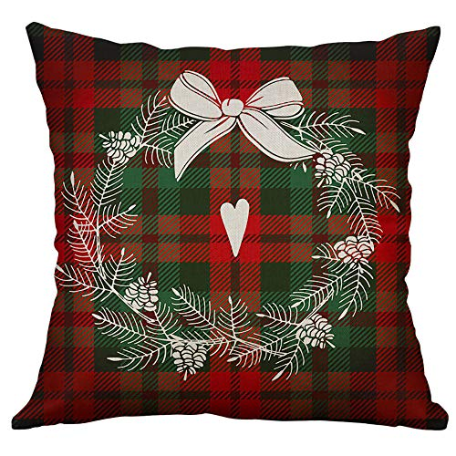 Malleable Christmas Sofa Bed Home Decor Pillow Case Cushion Cover