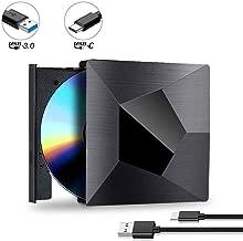 External CD Drive, Proslife USB 3.0 Type-C DVD Player, High Speed Data Transfer for Laptop/Desktop/XP/Vista/Win7/8/10/Mac, OS