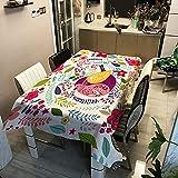 Lindos Animales Y Flores. Manteles Impresos En 3D Manteles para Banquetes Manteles Rectangulares para Uso Interior Y Exterior En Cocinas Y Restaurantes 120x120cm