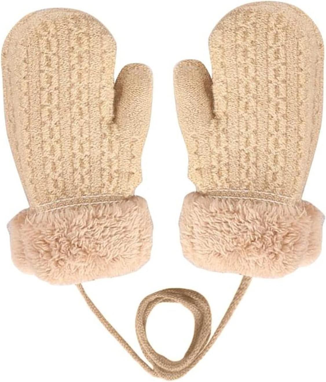 LANREN Winter Baby Boys Girls Knitted Gloves Warm Rope for Children Mittens Kids Winter Gloves Gloves Toddler Full (Color : D)