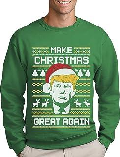 Green Turtle T-Shirts Make Christmas Great Again Trump Heren Ugly Christmas Sweater Sweatshirt