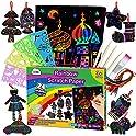 Zmlm Rainbow Magic Scratch Paper Art Set