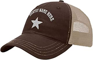 Custom Trucker Hat Richardson Somali Flag Star Embroidery Country Name Cotton