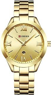 CURREN Original Women's Girls Sports Waterproof Stainless Steel Date Quartz Wrist Watch 9007