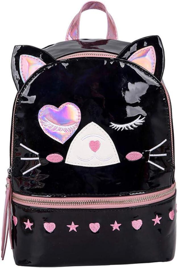 ZYSAJK Holographic Fashion Women Backpack Cute Kitten Transparent Laser Candy Backpack Schoolbag School Bag Female