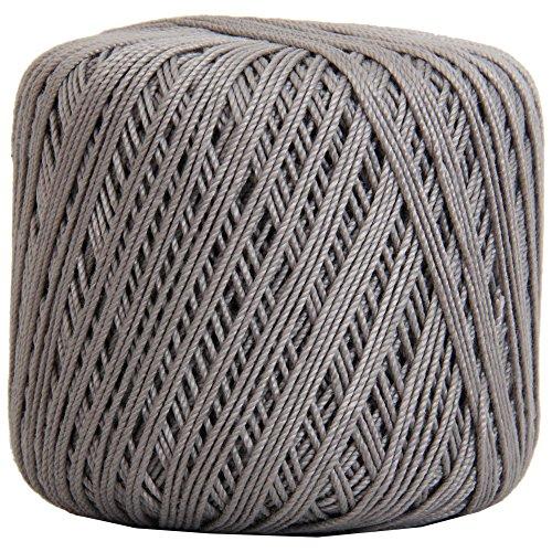 Threadart 100% Pure Cotton Crochet Thread - SIZE 3 - Color 25 - GREY -2 sizes 27 colors available