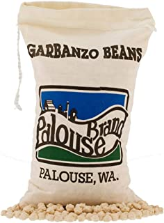 Garbanzo Beans aka Chickpeas or Ceci Beans | Non-GMO Project Verified | 100% Non-Irradiated | Certified Kosher Parve | USA Grown | Field Traced (3 LB Garbanzo Beans | Cotton Bag)