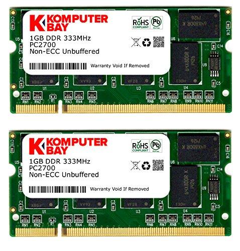 Digiwaycity 2GB (2x 1GB) DDR 333MHz PC2700(200Pin) sodimm Laptop-geheugen
