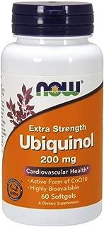 NOW Supplements, Ubiquinol 200 mg, High Bioavailability (The Active Form of CoQ10), 60 Softgels