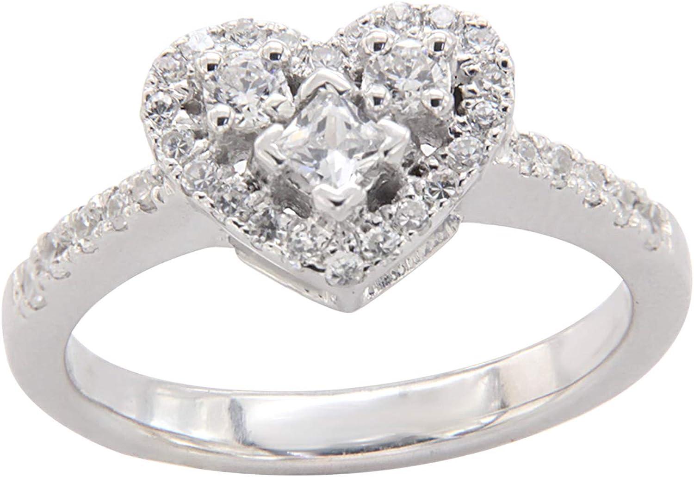 1 4 Ct Princess Round Cut Cheap bargain Diamond Sh Halo Cubic Zirconia Heart shopping