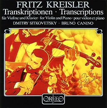 Fritz Kreisler Transcriptions for Violin & Piano