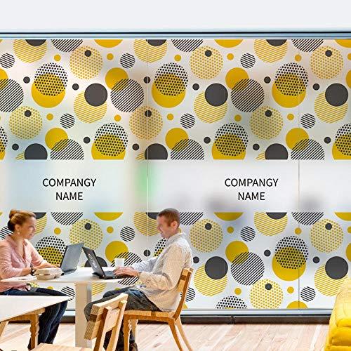 Fensterfolie Geometrische Himmel Büro Glas Aufkleber Türen Und Fenster Film Geometrische Figuren Einfache Technologieunternehmen Trennglas Ideen 45 * 300Cm