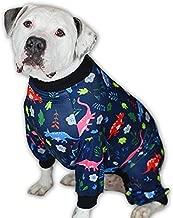 Tooth & Honey Big Dog Pajamas/Dinosaur Dog Pajamas/Slim fit/Lightweight Pullover Pajamas/Full Coverage Dog pjs/Please REASE Size Chart Before Ordering.