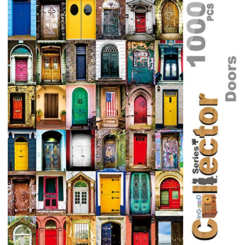Ingooood- Jigsaw Puzzle 1000 Pieces for Adult - Collector Series – Doors IG-0540 Entertainment Wooden Puzzles Toys