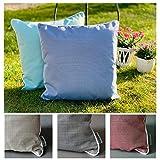 heimtexland ® Outdoorkissen Dekokissen Schmutz- und Wasserabweisend Outdoor Garten Kissen Lotus...