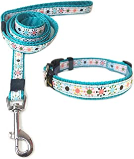 ANNIMOS Pet Dog Collar & Leash Set Adjustable Collars,Available Sizes for Small Medium Large Dogs