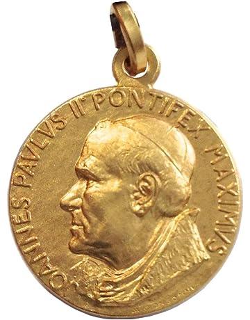 Ciondolo Papa Govanni Paolo II in argento 925 con laccetto ø 9,5 mm.